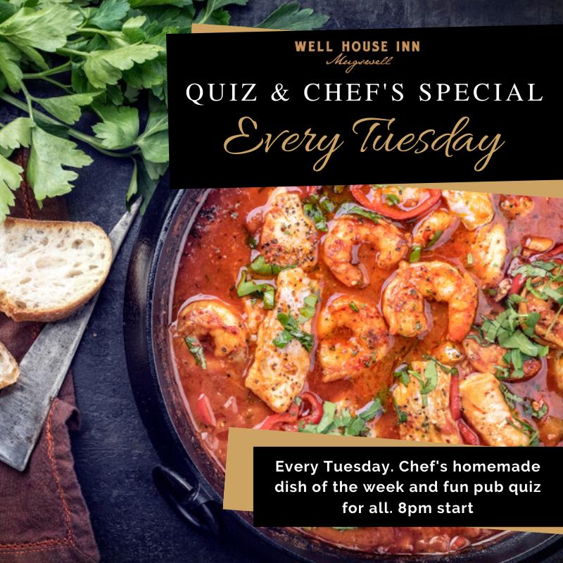 Quiz & Chef's Special Tuesdays