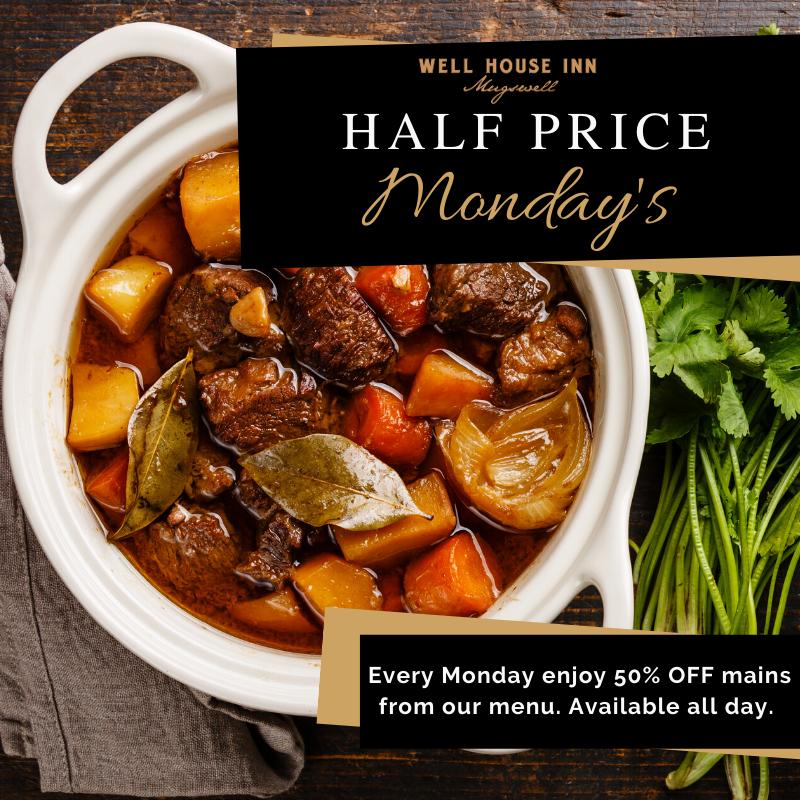 Half Price Monday's